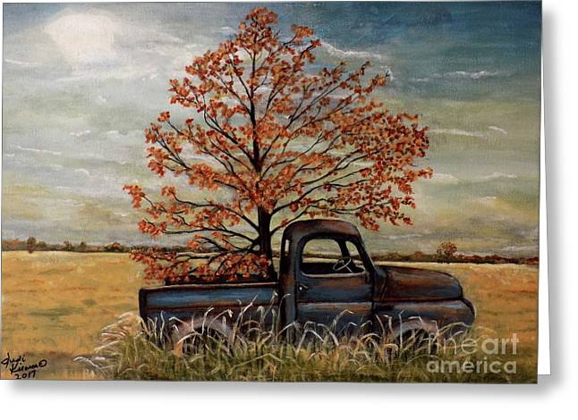 Field Ornaments Greeting Card by Judy Kirouac