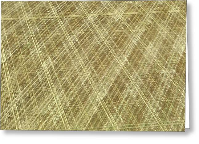 Field Pattern- Aerial Photography Greeting Card by Connor Beekman