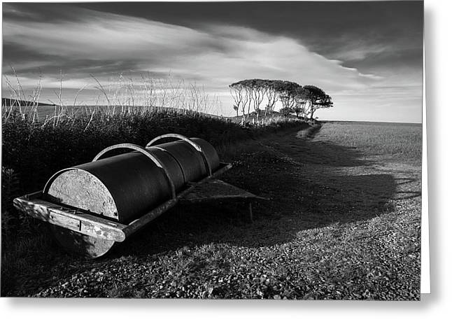 Field Roller Greeting Card by Dave Bowman