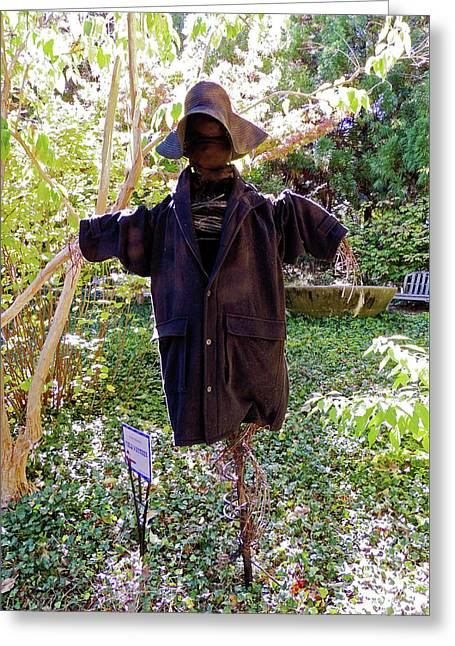 Field Watcher Scarecrow At Cheekwood Botanical Gardens Greeting Card