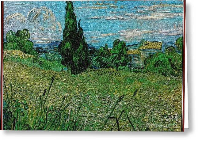 Field With Cypresses 23 Greeting Card by Pemaro