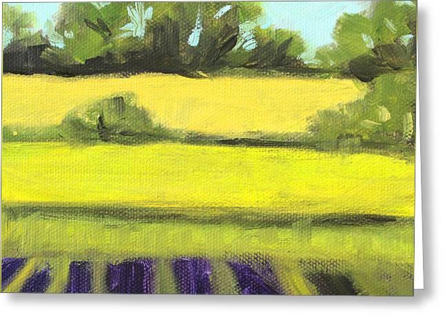 Field Work Greeting Card by Nancy Merkle