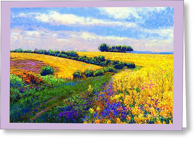 Greeting Card featuring the painting Fields Of Gold by Jane Small