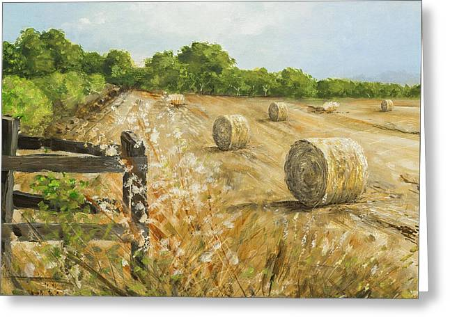 Fields Of Hay Greeting Card