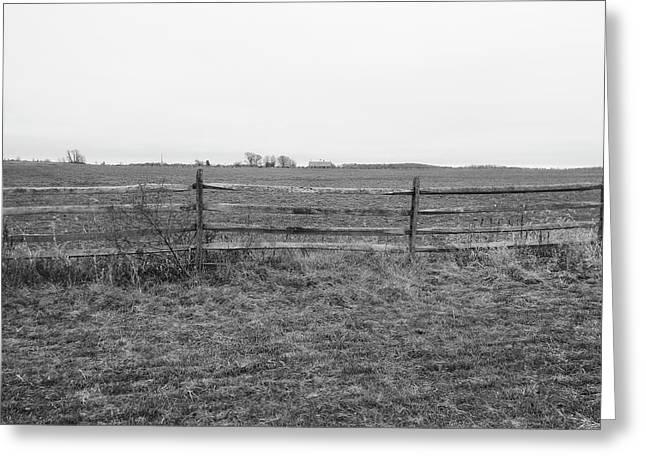 Gettysburg Series Fields Of Pickett's Charge Greeting Card by Paul Kercher