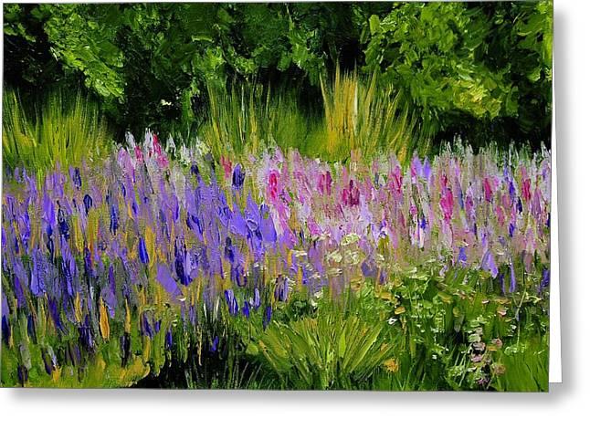 Fields Of Purple Greeting Card by Lisa Konkol