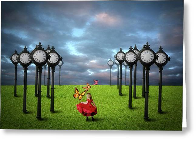 Fields Of Time Greeting Card