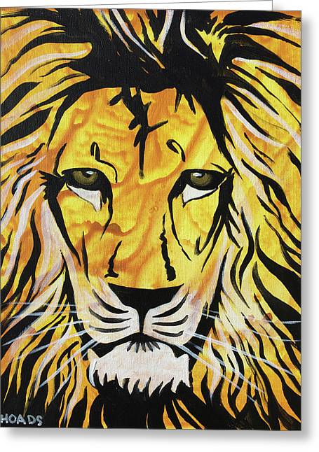 Greeting Card featuring the painting Fierce Protector 2 by Nathan Rhoads