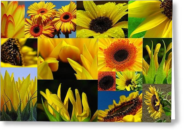 Fiery Blooms  Greeting Card by Juergen Roth