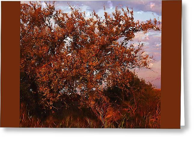 Fiery Elm Tree  Greeting Card