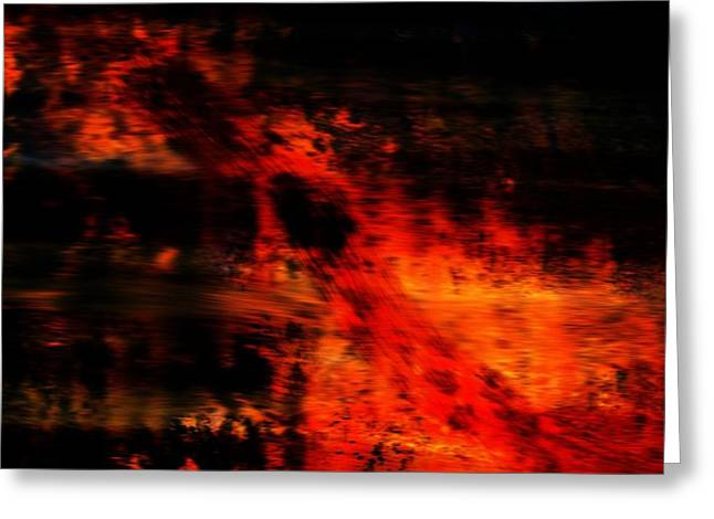 Fiery End Greeting Card by Dan Sproul