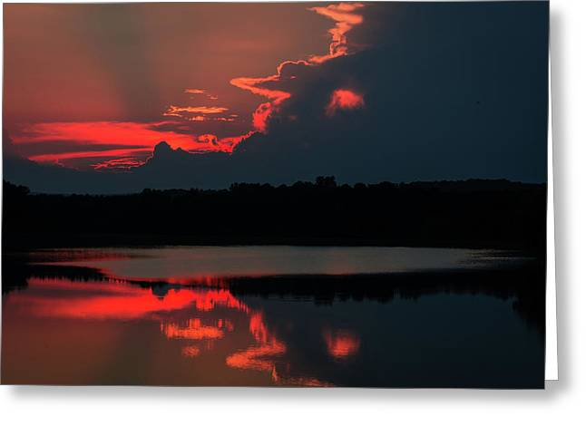 Fiery Evening Greeting Card