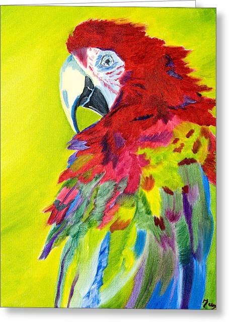 Fiery Feathers Greeting Card