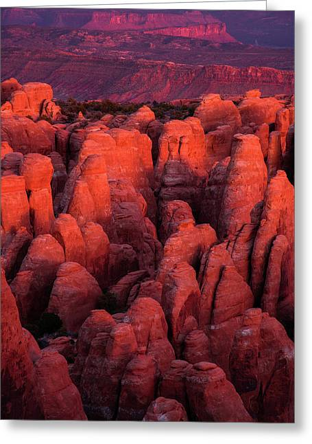 Greeting Card featuring the photograph Fiery Furnace by Dustin LeFevre