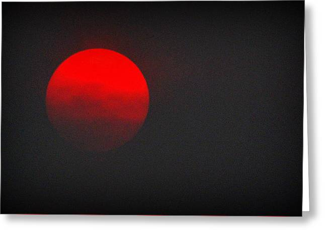 Greeting Card featuring the photograph Fiery Sun by AJ Schibig