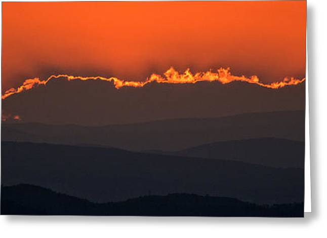 Fiery Sunset In The Luberon Greeting Card