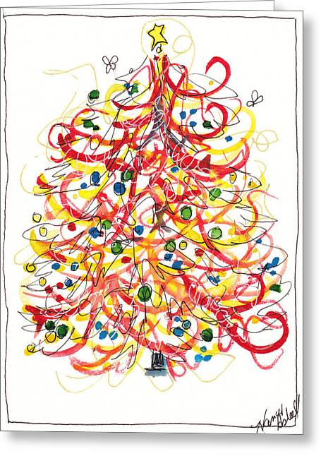 Fiesta Christmas Tree Greeting Card by Michele Hollister - for Nancy Asbell