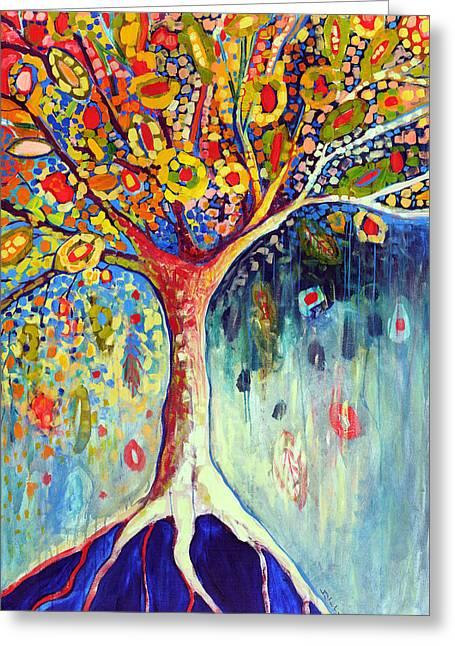 Fiesta Tree Greeting Card by Jennifer Lommers