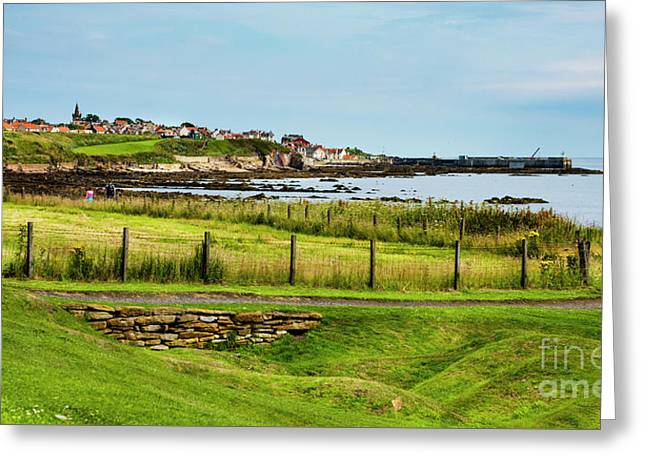 Fife Coastal Pathway Leading To Pittenweem Greeting Card by MaryJane Armstrong