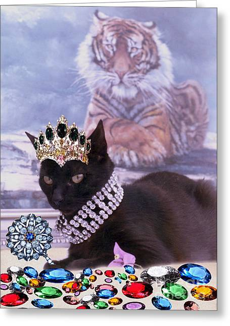 Fifi Diamonds Are A Kitten Best Friends Greeting Card by Silvia  Duran