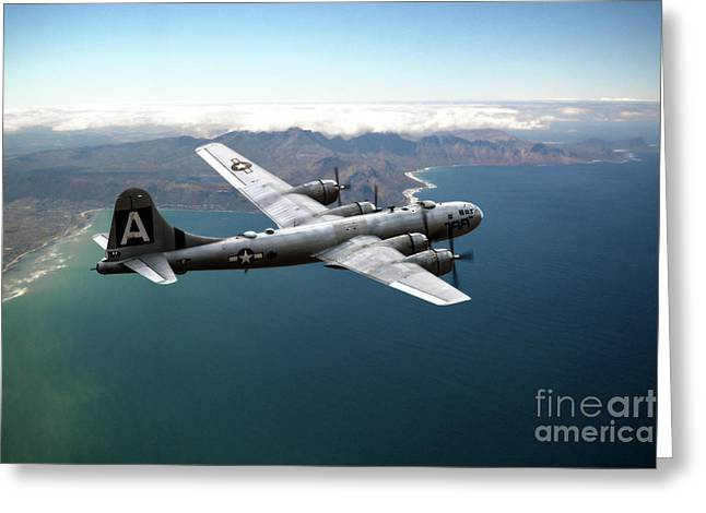 Fifi On Tour - B-29 Greeting Card by J Biggadike