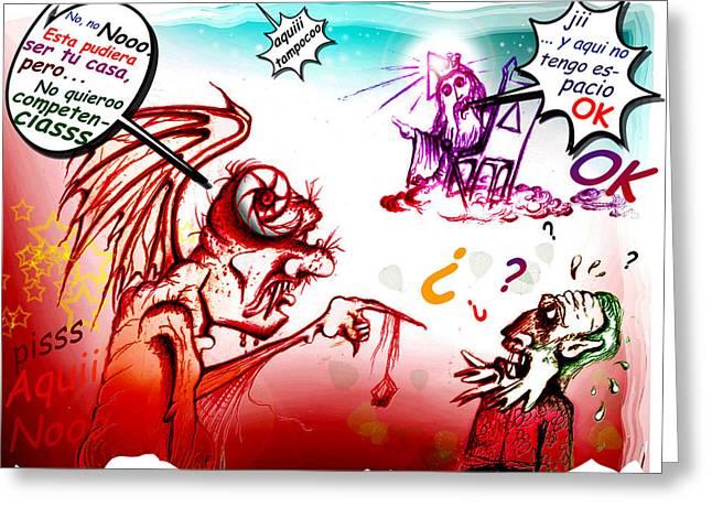 Fifo Sin Casa  Greeting Card by Ruben Santos