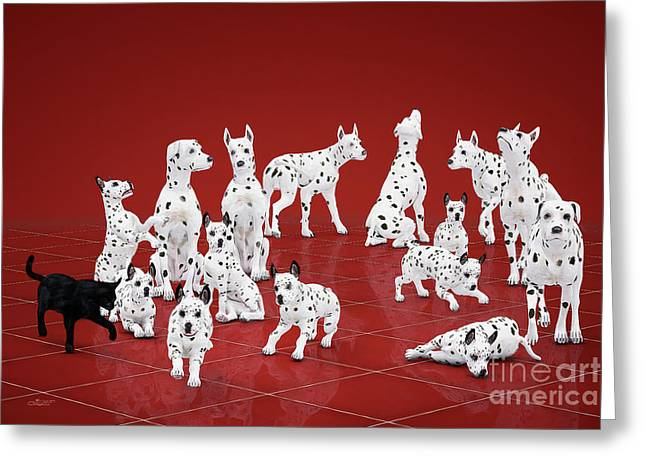 Fifteen Dalmations Greeting Card