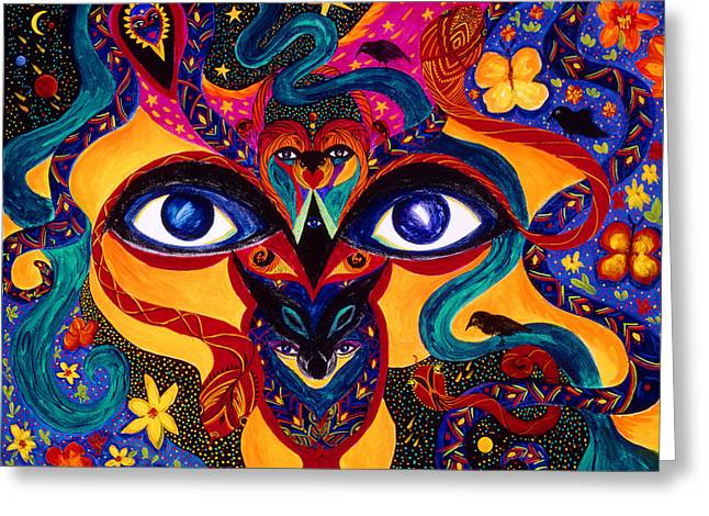 All Seeing Greeting Card by Marina Petro