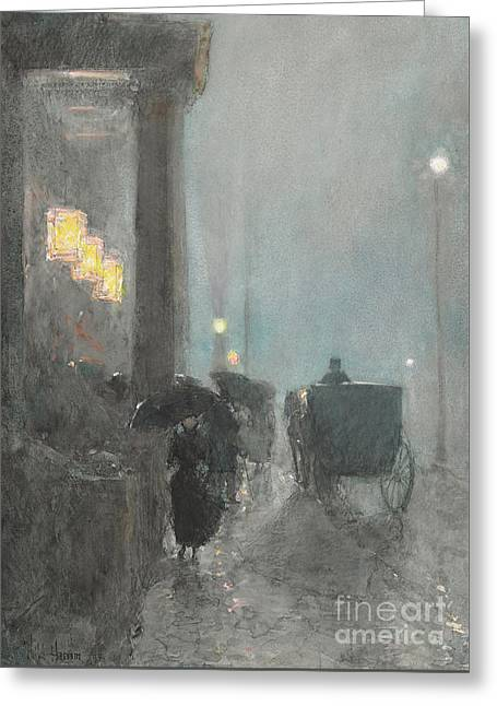 Fifth Avenue, Evening Greeting Card