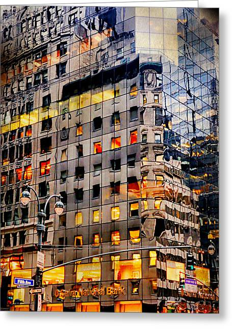 Fifth Avenue Floor Plan Greeting Card by Diana Angstadt