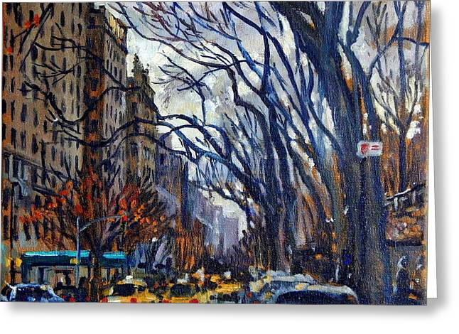 Fifth Avenue In November Greeting Card by Thor Wickstrom