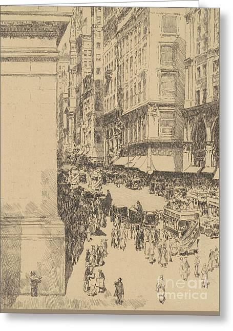 Fifth Avenue, Noon, 1916  Greeting Card