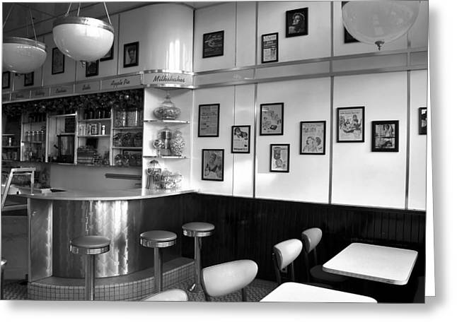 Fifties Diner Greeting Card by David Lee Thompson