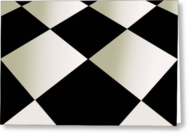 Fifties Kitchen Checkerboard Floor Greeting Card