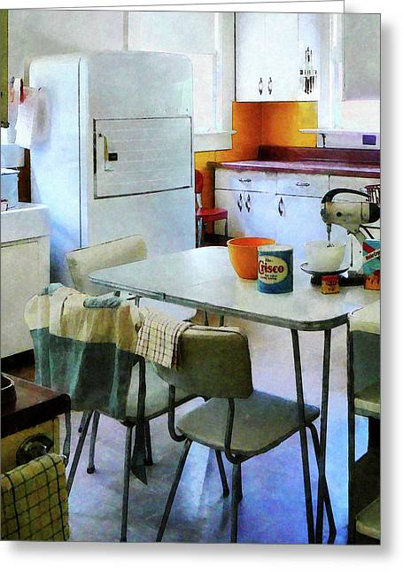 Fifties Kitchen Greeting Card by Susan Savad