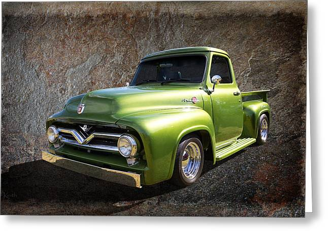 Fifties Pickup Greeting Card by Keith Hawley