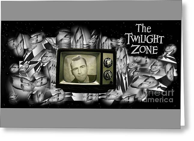 Fifties Television Nostalgia Greeting Card by John Malone