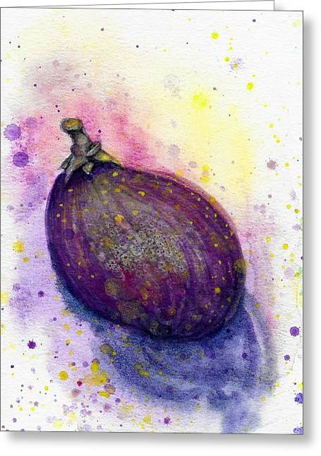 Greeting Card featuring the painting Fig by Ashley Kujan
