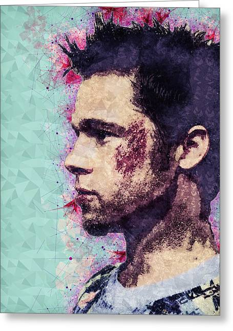 Fight Club Poster - Brad Pitt - Tyler Durden Greeting Card