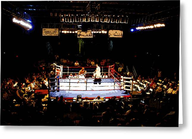 Fight Night Greeting Card by David Lee Thompson