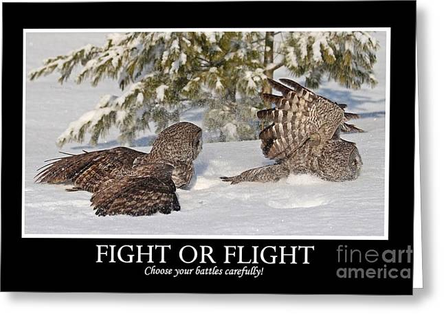 Fight Or Flight Greeting Card