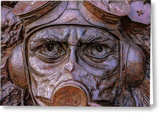 Fighter Pilot Greeting Card by Savash Djemal
