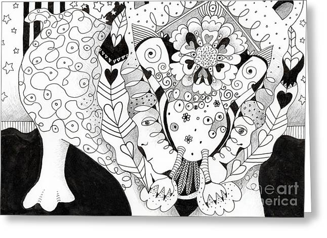 Figments Of Imagination - The Beast Greeting Card
