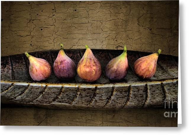 Figs Digital Art Greeting Cards - Figs In A Row Greeting Card by Sari Sauls