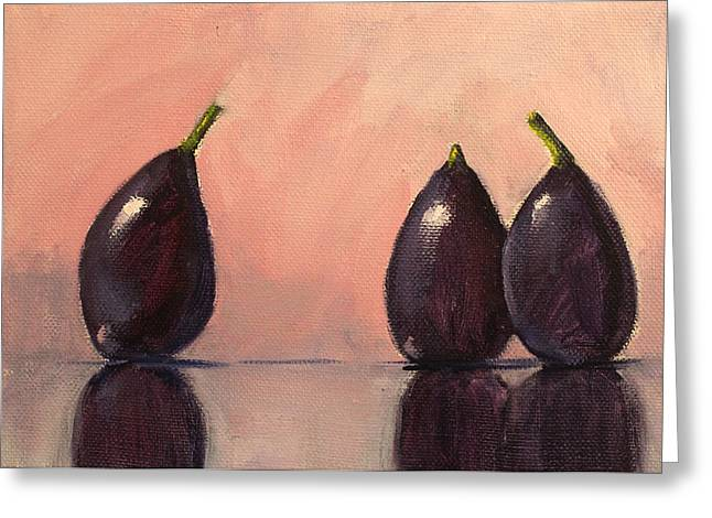 Figs Still Life Painting Greeting Card