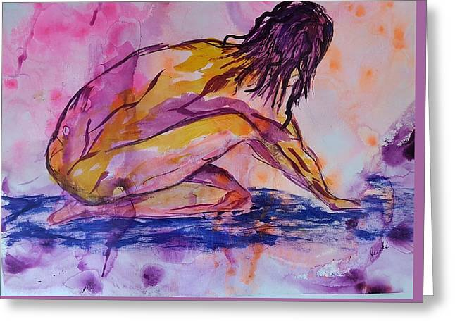Figurative Abstract Nude 7 Greeting Card