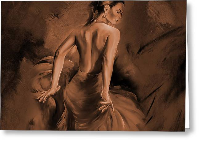Greeting Card featuring the painting Figurative Art 007dc by Gull G