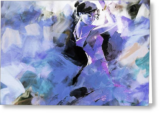 Greeting Card featuring the painting Figurative Dance Art 509w by Gull G