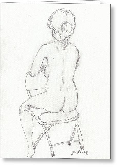 Figure Drawing Class 4 Greeting Card by Janel Bragg