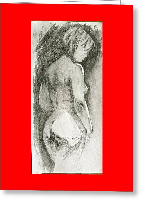 Figure Drawing.2. Greeting Card by SJV Jeffery-Swailes